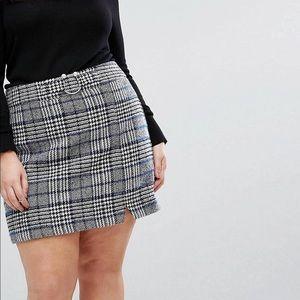 ASOS CURVE Check Miniskirt